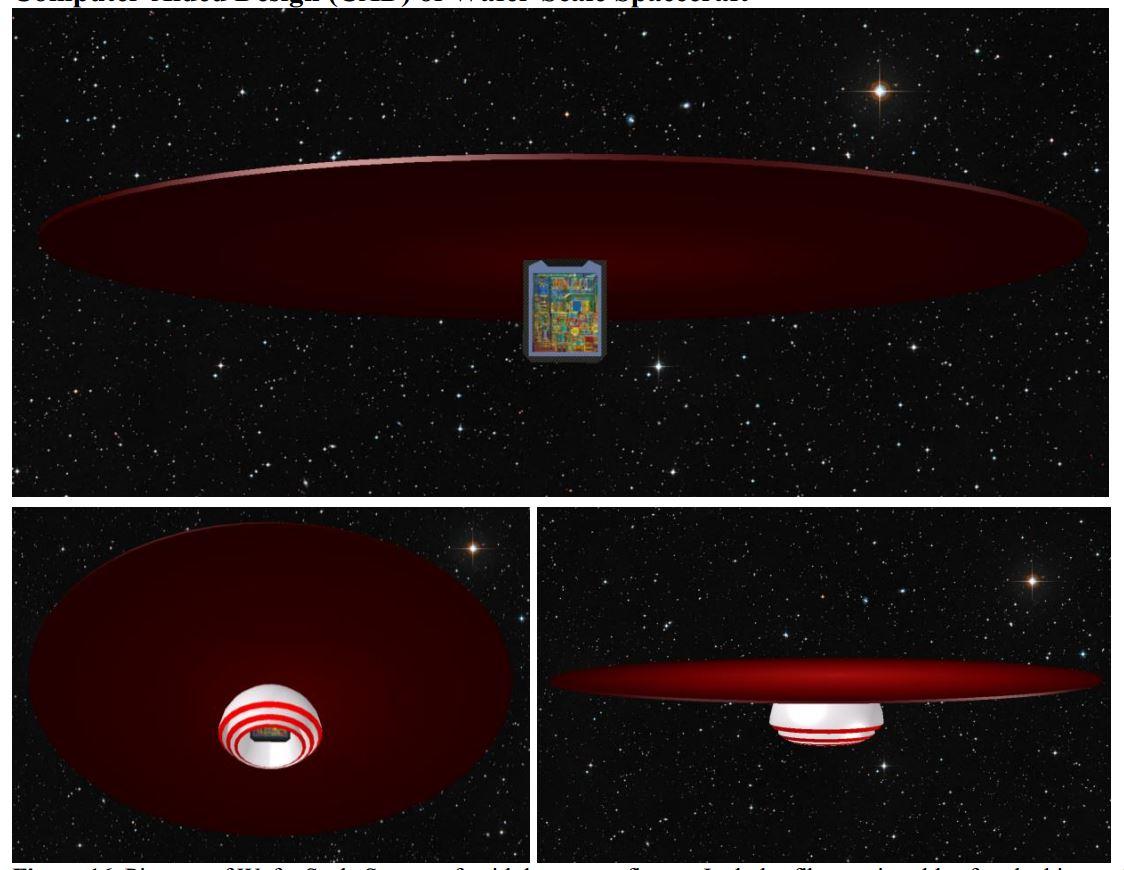 Figure 5: UCSB team wafer spacecraft design