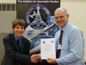 Kieran Twaites receives certificate