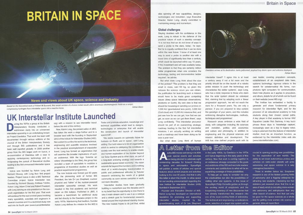 Spaceflight Magazine, 2013