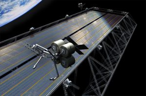 truss structures being assembled on-orbit